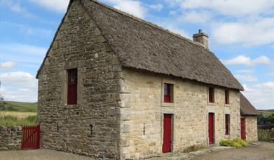 Three stone cottages at Barrasford Quarry were part of a restoration scheme to create a local museum and visitor centre